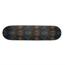 Dark Aztec Pattern Skateboard