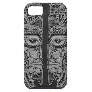 Dark Aztec Twins iPhone 5 Cases
