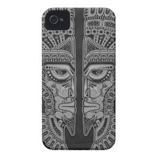 Dark Aztec Twins iPhone 4 Case