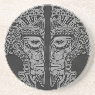 Dark Aztec Twins Coasters