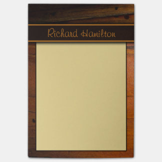 Dark Baltic Pine Faux Woood Large Post-it® Notes