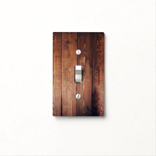 Barn Light Covers: Dark Barn Wood Planks Light Switch Cover