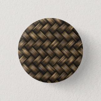 dark basket weave pinback button