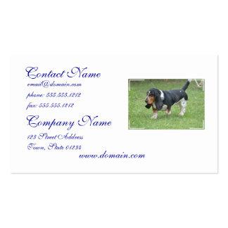 Dark Basset Hound Business Card Template