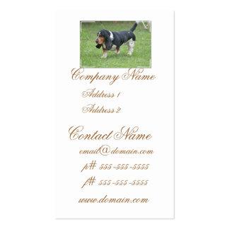 Dark Basset Hound Business Card