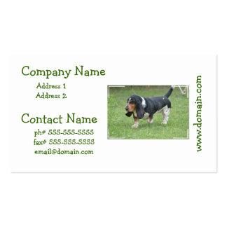 Dark Basset Hound Business Card Templates