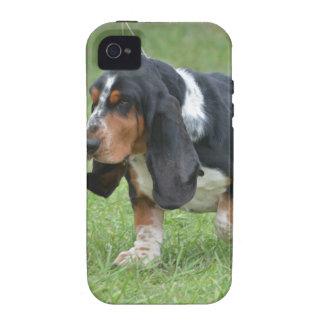 Dark Basset Hound Dog Vibe iPhone 4 Covers