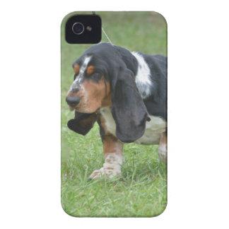 Dark Basset Hound Dog iPhone 4 Cases