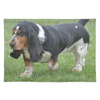 Dark Basset Hound Dog Placemats