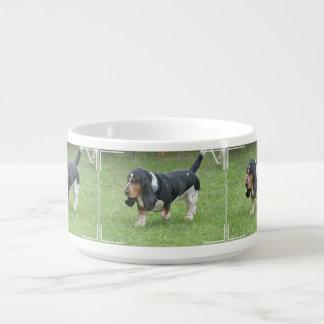 Dark Basset Hound Dog Chili Bowl