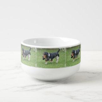 Dark Basset Hound Dog Soup Mug