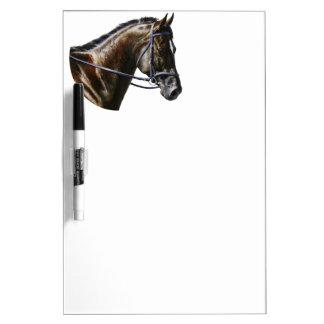 Dark Bay Dressage Horse Dry-Erase Board