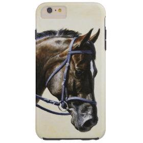 Dark Bay Dressage Horse Tough iPhone 6 Plus Case