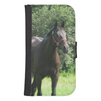 Dark Bay Horse Galaxy S4 Wallet Case