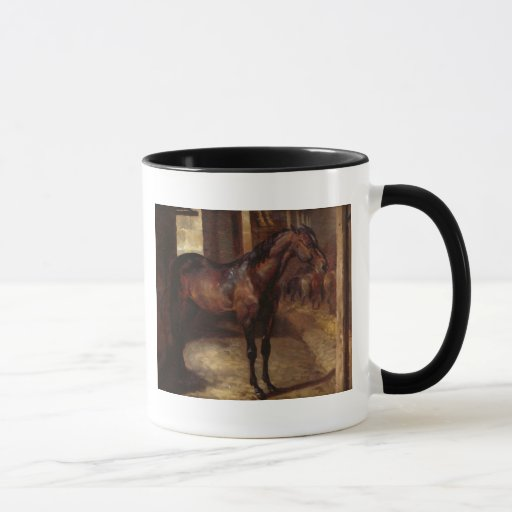 Dark Bay Horse in the stable Mug