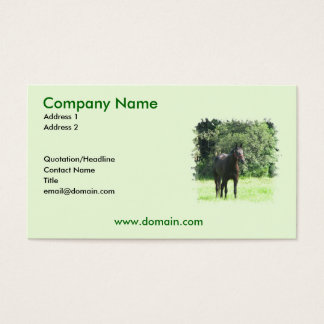 Dark Bay Horse on a Business Card