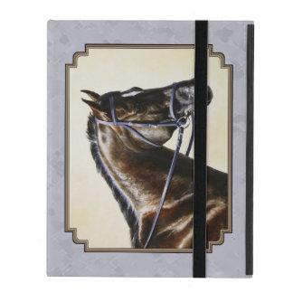 Dark Bay Sport Horse Gray iPad Cover