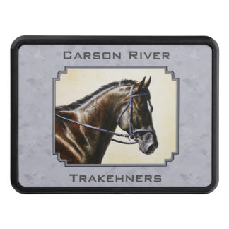 Dark Bay Sport Horse Gray Tow Hitch Cover