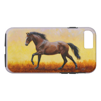 Dark Bay Stallion Horse Galloping iPhone 7 Case