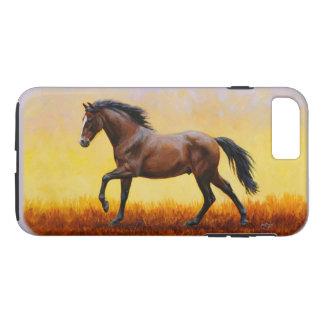 Dark Bay Stallion Horse Galloping iPhone 7 Plus Case