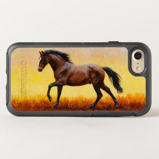 Dark Bay Stallion Horse Galloping OtterBox Symmetry iPhone 7 Case