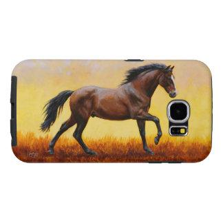 Dark Bay Stallion Horse Galloping Samsung Galaxy S6 Case