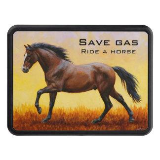 Dark Bay Stallion Horse Galloping Trailer Hitch Cover