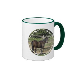 Dark Bay Thoroughbred Coffee Cup Mug