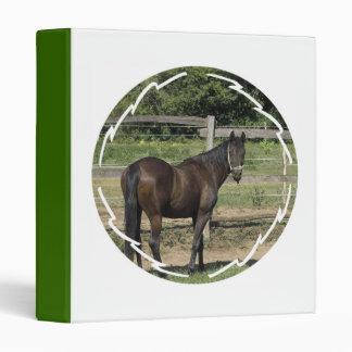 Dark Bay Thoroughbred Horse Binder