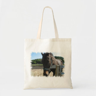 Dark Bay Thoroughbred Horse Budget Tote Bag