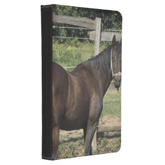 Dark Bay Thoroughbred Horse Kindle Case