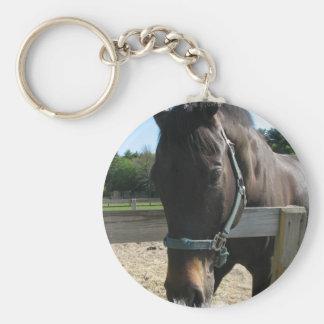 Dark Bay Thoroughbred Horse Keychain