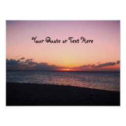 Dark Beach Sunset Poster
