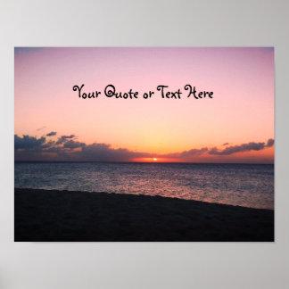 Dark Beach Sunset Poster