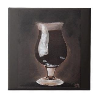 Dark Beer in Tulip Glass Porter Stout Painting Art Tile