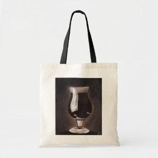 Dark Beer in Tulip Glass Porter Stout Painting Art Tote Bag