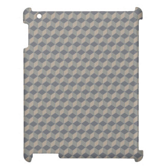 Dark Beige 3D cubes cascading Cover For The iPad