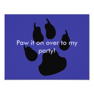 Dark big paw card