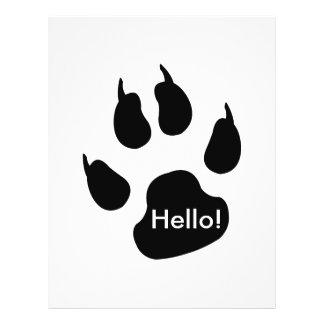 Dark big paw custom flyer
