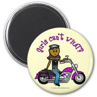 Dark Biker Girl 2 Inch Round Magnet