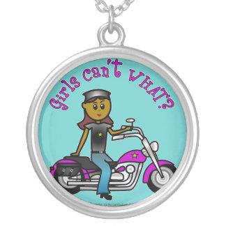 Dark Biker Girl Pendants