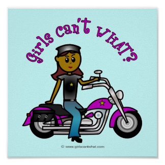 Dark Biker Girl Poster