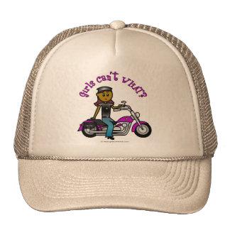 Dark Biker Girl Trucker Hat