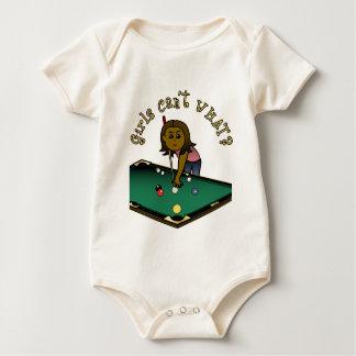 Dark Billiards Girl Baby Bodysuit