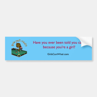 Dark Billiards Girl Bumper Sticker