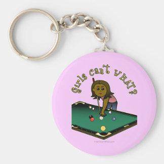Dark Billiards Girl Keychain