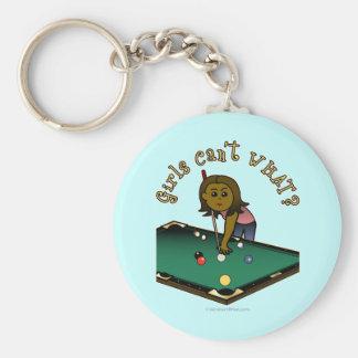 Dark Billiards Girl Key Chain