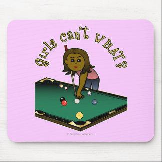 Dark Billiards Girl Mouse Pad