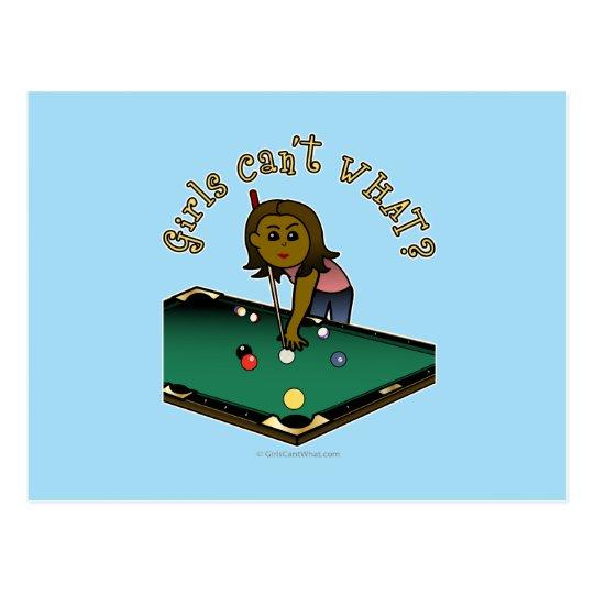 Dark Billiards Girl Postcard