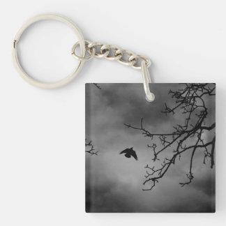Dark Bird in Flight Keychain